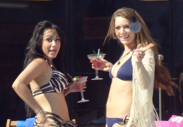 Big Brother 2012 - Day 48: Deana and Sara dancing at the pool party