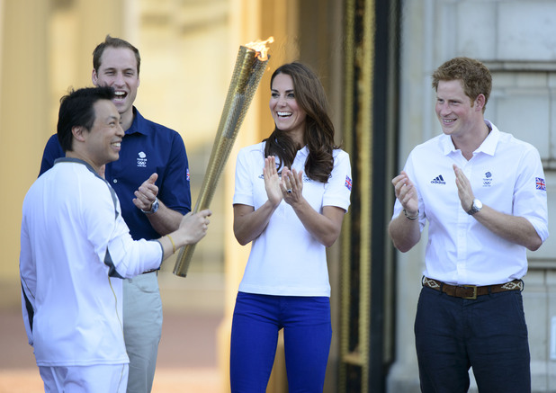Catherine Duchess of Cambridge, Wai-Ming, Prince William, olympic torch relay