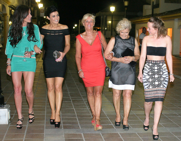 Kym Marsh enjoys a night out in Puerto Banus to celebrate her hen weekend in Marbella.