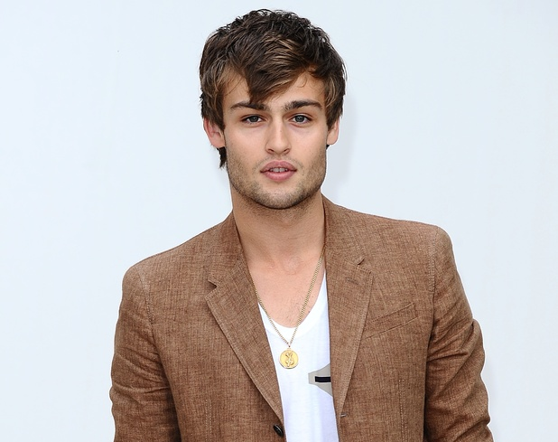 Douglas Booth arriving for the Burberry Catwalk show, during London Fashion Week