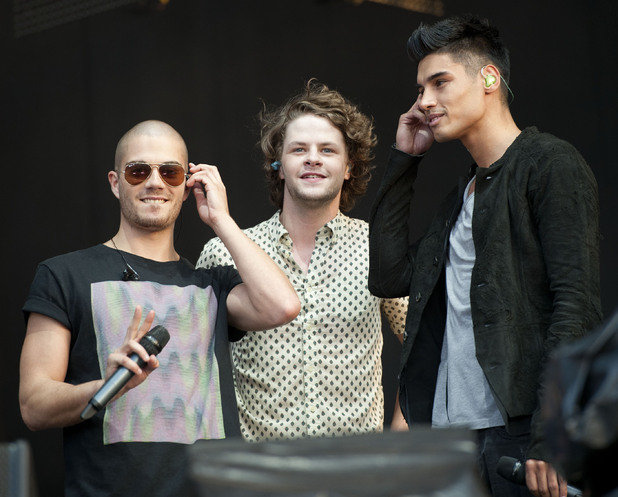 The Wanted at Olympic torch relay concert
