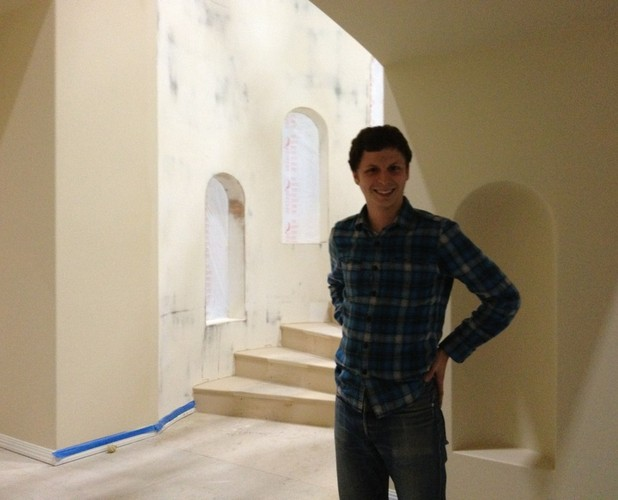 Michael Cera as George Michael Bluth on the set of the new series of Arrested Development.