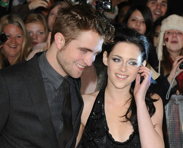 Robert Pattinson and Kristen Stewart at The Twilight Saga: Breaking Dawn: Part 1 film premiere, held at Westfield, London, England - 16.11.11