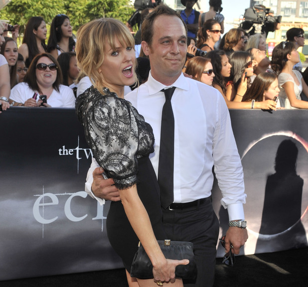 "Sunny Mabrey, left, and Ethan Embry, right, arrive at the premiere of ""The Twilight Saga: Eclipse"""