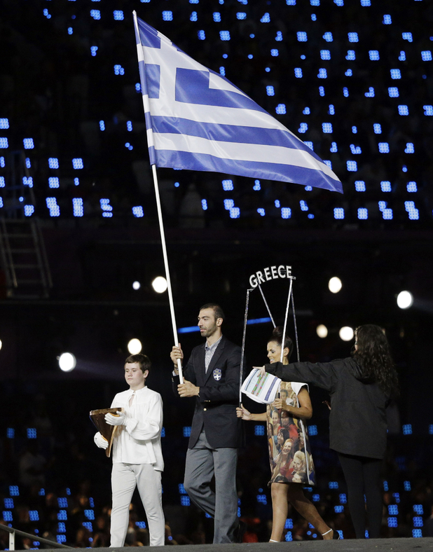 Greece are the first athletes to enter the Opening Ceremony