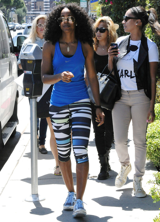 Kelly Rowland out and about with friends in West Hollywood.