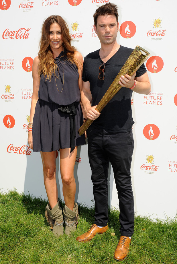 Dave Berry and Lisa Snowdon at Olympic torch relay concert