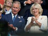 Prince Charles and Camilla, Duchess of Cornwall during The Opening Ceremony of the London 2012.