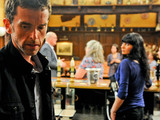 Marlon slips away quietly to the kitchen as Paddy makes a speech on his and Rhona's big adventure in the Woolpack