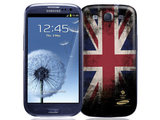 The Samsung Galaxy S3 (black) celebrates team GB