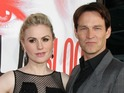 True Blood actress gives birth to her first children with her co-star.