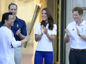 The Duke & Duchess of Cambridge attend Buckingham Palace Olympic Torch Relay.