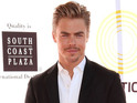 Derek Hough congratulates Tony Dovolani on his win with Melissa Rycroft.