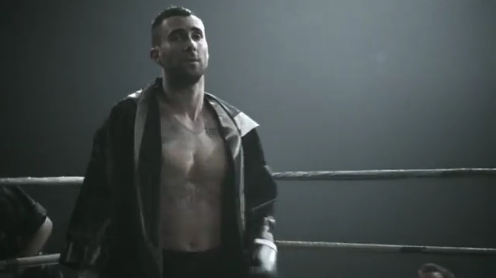 Adam Levine boxing in 'One More Night' video