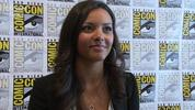 Jessica Lucas talks at Comic-Con about her upcoming role in the remake of Sam Raimi's cult horror 'The Evil Dead'.