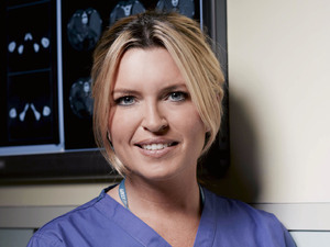 Tina Hobley as Chrissie Williams in Holby City