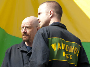 Bryan Cranston and Aaron Paul in Breaking Bad, Season 5, Episode 3