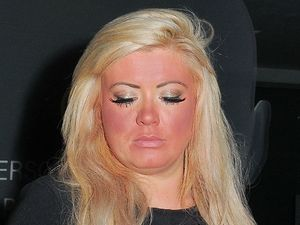 Gemma Collins looking red leaving Joey Essex's birthday party