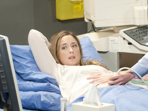 Sonya Mitchell's baby scan in Neighbours