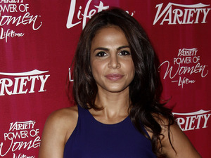 Actress Azita Ghanizada arrives at Variety&#39;s 3rd Annual Power of Women Luncheon in Beverly Hills