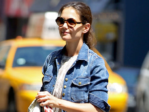 Katie Holmes running errands in New York.