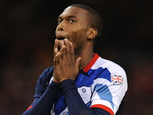 Daniel Sturridge holds his heads in his hands after the GB football team crash out of the Olympics on penalties.