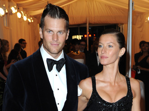 Gisele Bundchen and Tom Brady Schiaparelli and Prada 'Impossible Conversations' Costume Institute Gala 2012 at The Metropolitan Museum of Art New York City