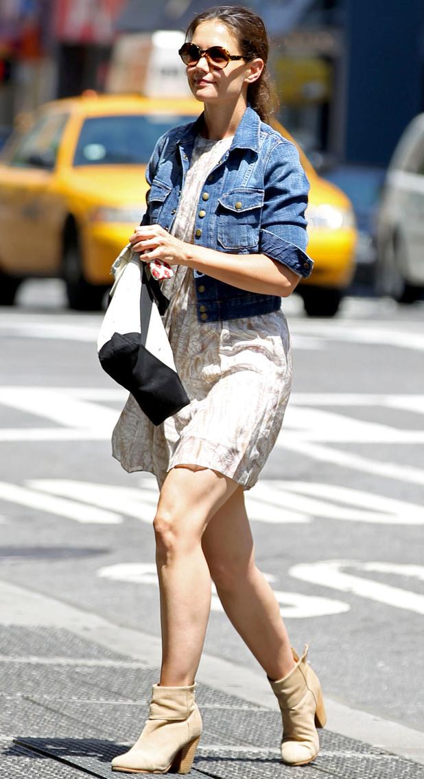 Katie Holmes running errands in New York.