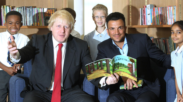 Boris Johnson, Peter Andre