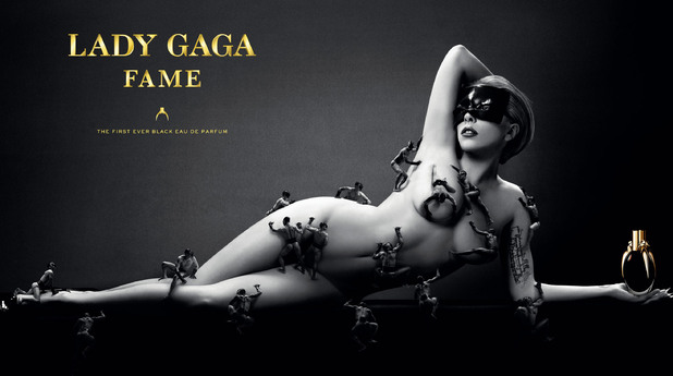 Lady Gaga has stripped off in the edgy new advertisement for her first perfume.
