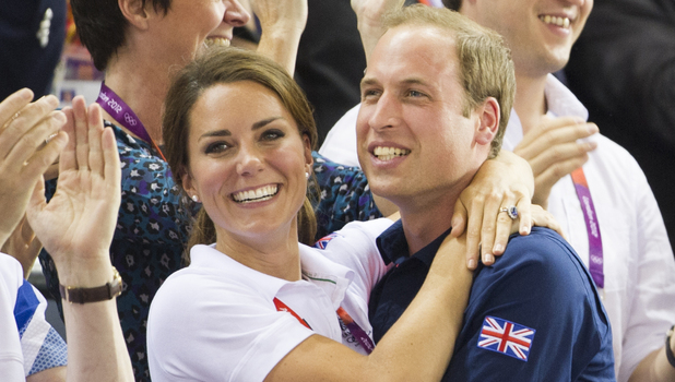 Prince William and Kate Middleton celebrate Team GB winning gold