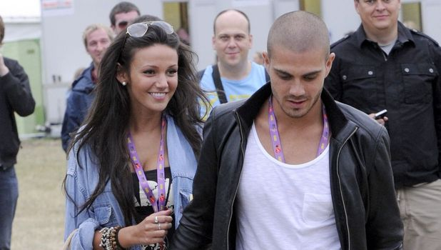 Michelle Keegan and Max George of The Wanted at the Virgin Mobile V Festival, Weston Park, Staffordshire, Britain - 20 Aug 201.