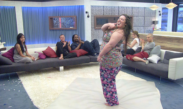 Big Brother 2012 - Day 59: Becky in the 'Musical Charades' task