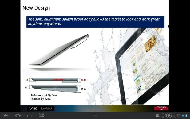 Sony quad-core Xperia tablet