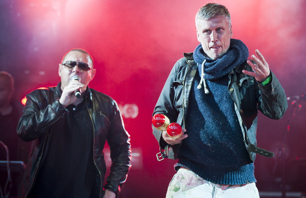 Camp Bestival 2012: Bez and Shaun Ryder of The Happy Mondays