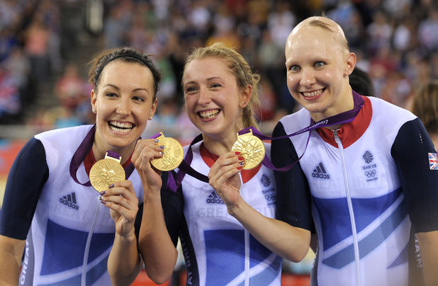 Laura Trott, Dani King and Joanna Rowsell