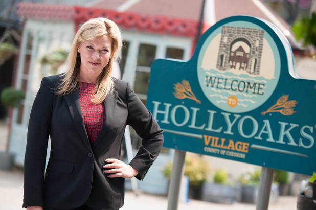 Claire King as a prison governor in Hollyoaks