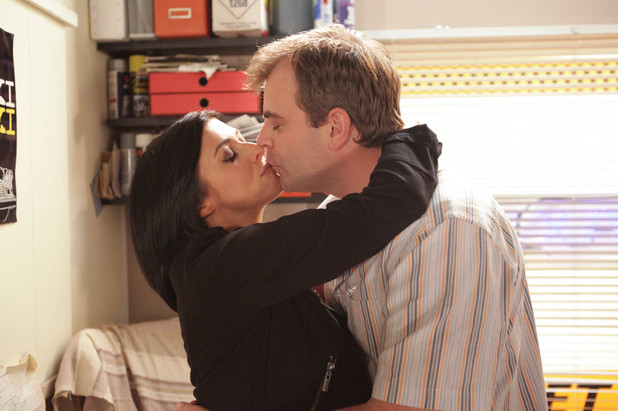 Michelle is impressed with Steve's actions and thanks him by kissing him. Steve is ecstatic