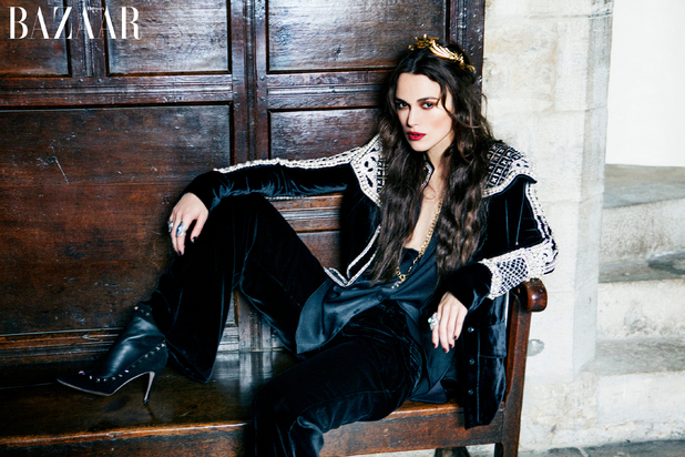 Keira Knightley shot by Ellen Von Unwerth for Harper's Bazaar