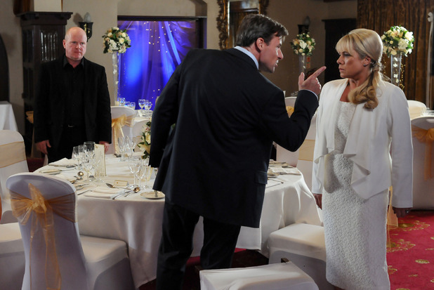 Sharon Watts is angrily confronted by John