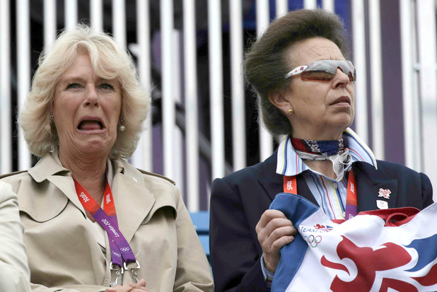 Camilla Duchess of Cornwall, Princess Anne, 2012 London Olympic Games, Equestrian Eventing, Greenwich Park