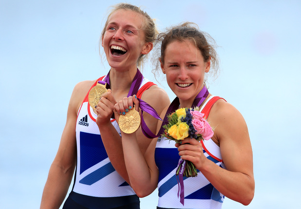 Great Britain's Sophie Hosking and Katherine Copeland