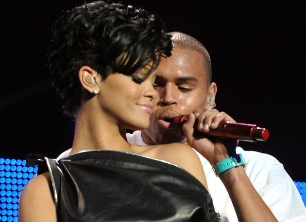 Rihanna and Chris Brown perform at Z100&#39;s Annual Jingle Ball Concert at Madison Square Gardens in New York City, USA 12.12.08