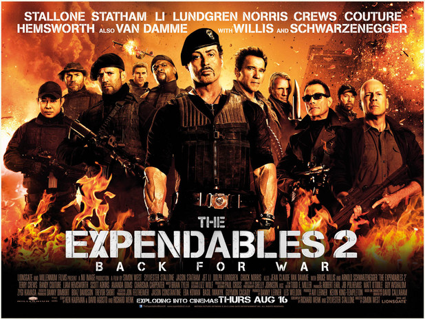 Expendables 2 wide poster