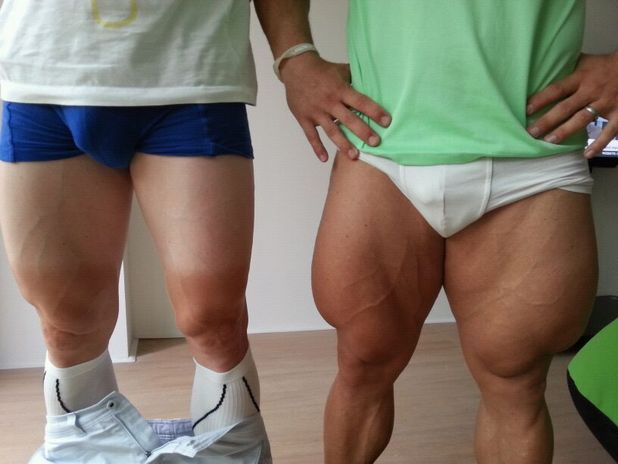 muscular legs as posted by Greg Henderson on Twitter, Robert Forstemann