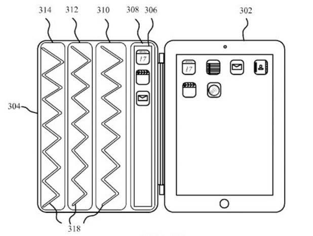 Apple files patent for 'second screen' iPad cover