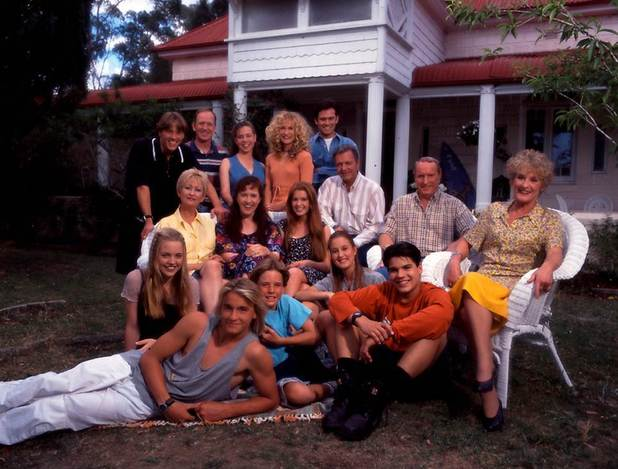 Home and Away classic cast shot