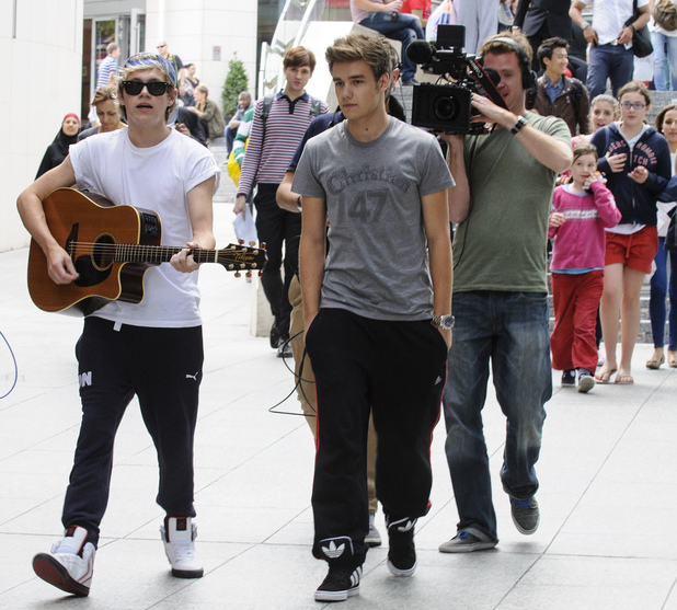 One Direction stars Liam Payne and Niall Horan at Westfield.