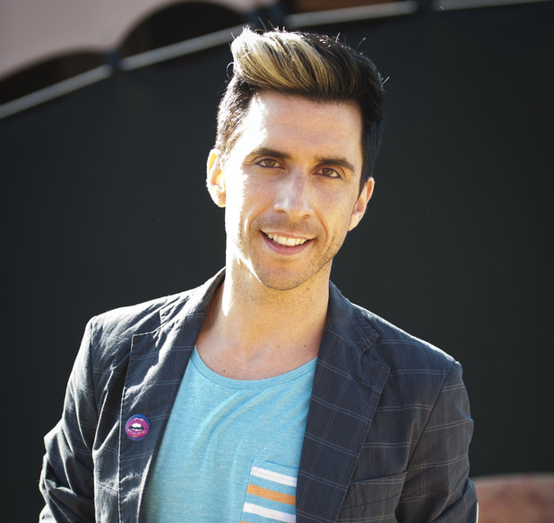 Camp Bestival 2012: Russell Kane backstage