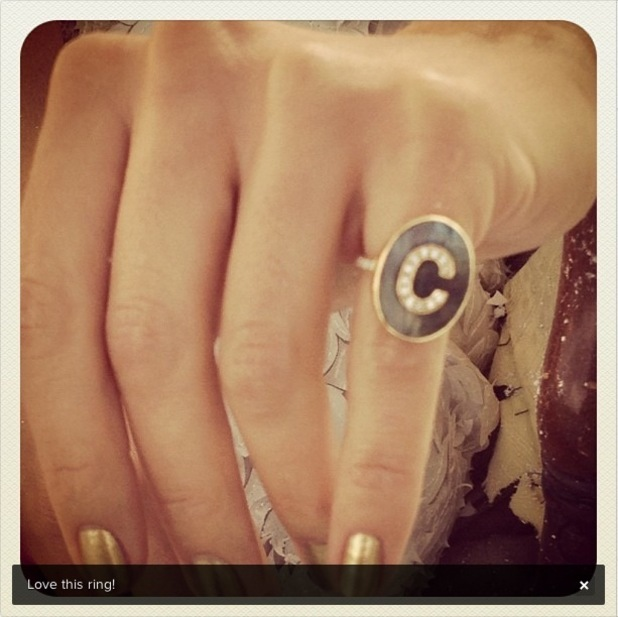 Cat Deeley tweets picture of a ring.